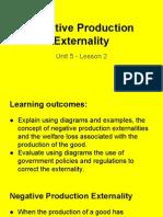 unit 5 - lesson 2 - negative production externalities