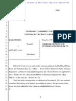 Barry Rosen v. eBay, Inc., CV 13-6801, Order re Motions for Summary Judgment