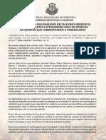 Comunicado Gobernadores Bolivarianos