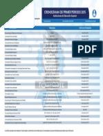CRONOGRAMA DEL PRIMER PERIODO 2015