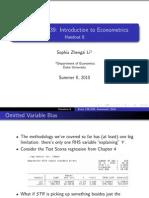 Econometrics Slides
