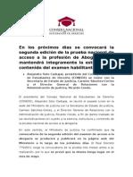 Nota de Prensa CONEDE Enero 2015