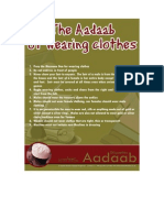 17- The Adaab of Wearing Clothes