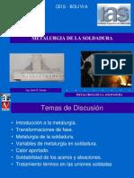 Metalurgia de La Soldadura -BOLIVIA - 2013