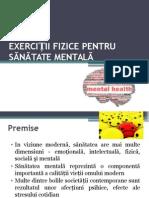 Curs 5-Exercitii Fizice Pentru Sanatate Mentala