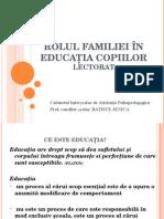 Rolul Familiei În Educaţia Copiilor