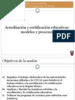 Acreditacion y Certificacion Educativas Modelos y Procesos