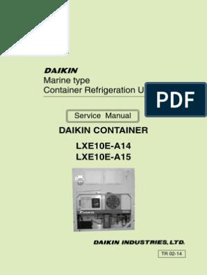 Daikin Manual LXE10E 15A | Heat Pump | Hvac