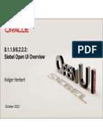 Siebel Open UI Overview v1.0