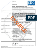 Example Permit to Import Infectious Biological Agents, Infectious Substances, And Vectors