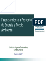 ENI Financiamiento a Proyectos Energia