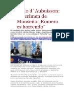 La Pagina - Roberto d´Aubuisson El crimen de Monseñor Romero es horrendo - 20 01 15