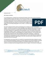 Letter to national sorority presidents urging non-participation in U-Va. men's bid night