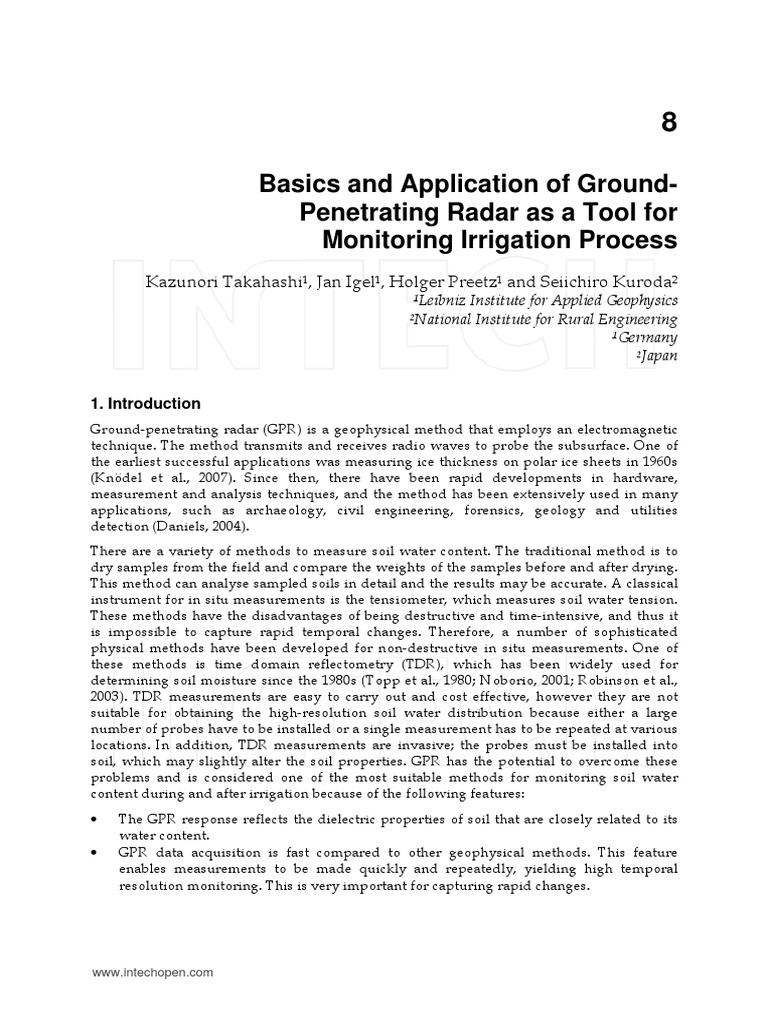 Basics and Application of Ground Penetrating Radar As A Tool For ...