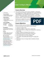 EDU DATASHEET VSphereInstallConfigureManage V5110