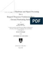 The Design of Hardware and Signal Processing for a Stepped Frequency Continuous Wave Ground Penetrating Radar - Alan Langman