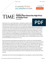 getting real about the high price of cheap food -- printout -- time
