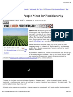 what 11 billion people mean for food security