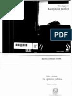 La Opinion Publica - Walter Lippmann
