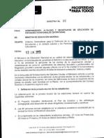 Directiva Ministerial 16 Sobre Jornada Laboral