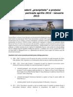 Analiza scaderii pretului petrolului in perioada 2014 - ianuarie 2015