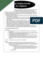 basic speech outline format