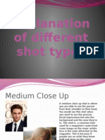 Explanation of Different Shot Types