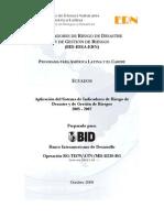 EcuadorIndicadoresBID IDEA 2009