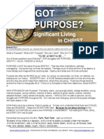 Got Purpose? Significant Living In Christ!