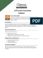 VBS3Terrain Generation Terrain Generation Course Syllabus