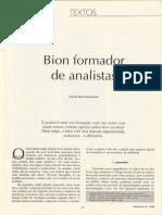 Rezende (1994). Bion Formador de Analistas.