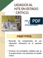 Cuidados Al Paciente en Estado Crítico