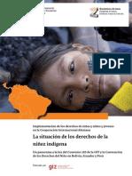 La situación de los derechos de la niñez indígena