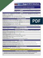 B2B August 2014 Solutions