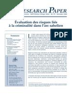 Ammour, Laurence - Évaluation des risques liés à la criminalité dans l'arc sahelien – Nato Defense College, Research Paper n° 53 - November 2009