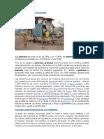La Pobreza en El Ecuador