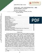 ECOLOGY, PHYSIOLOGY, AND BIOCHEMISTRY 1502 OF BLUE-GREEN ALGAE