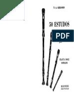 50 Estudos - Partituras Flauta Doce