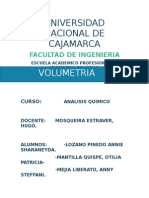 VOLUMETRIA ANALISIS QUIMICO