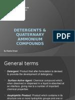 Detergents & Quaternary Ammonium Compounds