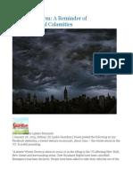 New York Storm a Reminder of Environmental Calamities