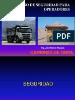 Seguridad para operadores de Camion Minero