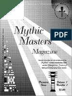 Dangerous Journeys Mythus master newsletter