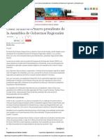 28-01-2015 CÉSAR ACUÑA ES EL NUEVO PRESIDENTE DE LA ASAMBLEA DE GOBIERNOS REGIONALES _ LAREPUBLICA