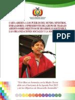 Carta Abierta a Los Pueblos Choquehuanca Desarrollo Sostenible