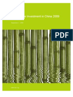 Sustainable Investment in China 2009
