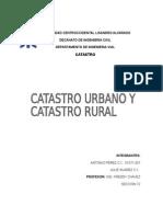 Catastro Urbano y Catastro Rural