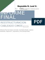 Informe Final Conclusion de Trabajo de Cableado de RED