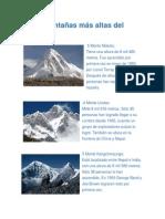 Las 5 Montañas Más Altas Del Mundo