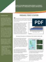 Position paper on the establishment of Mindanao Power Corporation